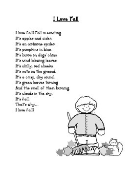 I Love Fall Poem