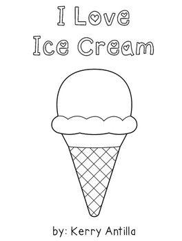 *FREE* I Love Ice Cream mini-book