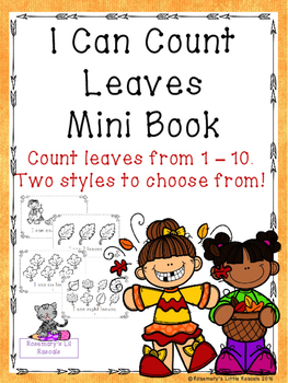 I Can Count Leaves Mini Book