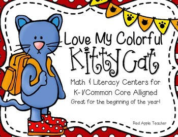 I Love My Colorful Cat!--Math & Literacy Centers for K-1 C