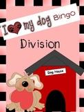 Division Bingo Game - I Love My Dog