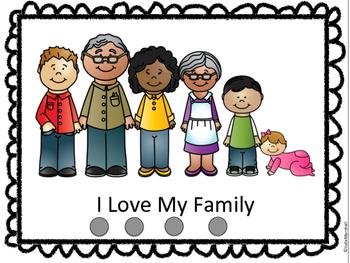 I Love My Family Emergent Reader