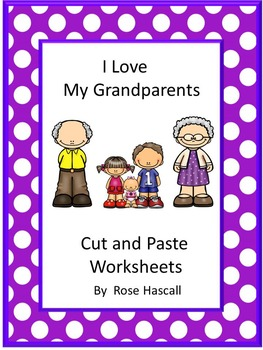 Grandparents Cut and Paste NO PREP Math & Literacy Printab