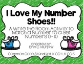 I Love My Number Shoes! Write the Room