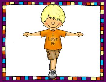 I Love PE Poster (Boy)