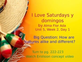 I Love Saturdays y domingos PowerPoint Reading Street 3.5.2