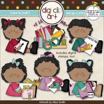 I Love To Craft 2-  Digi Clip Art/Digital Stamps - CU Clip Art