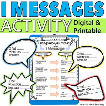 I Messages activity; social skills, communication skills