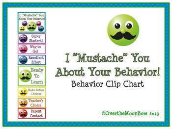 "I ""Mustache"" You Behavior Clip Chart"