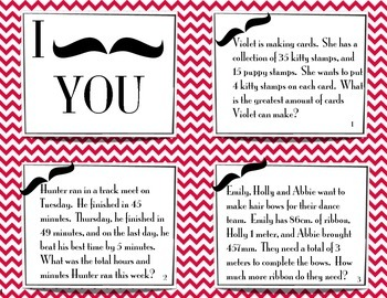 I Mustache You Problem Solving Task Cards