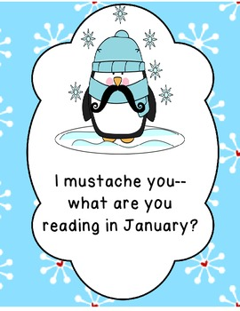 I Mustache You What You Are Reading--Monthly Mini-Posters