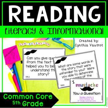I Mustache You a Question {Reading Literary & Informationa