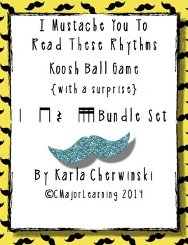 I Mustache You to Read These Rhythms Koosh Ball Game {with