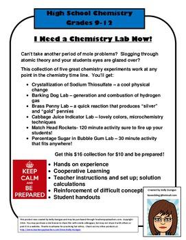 I Need a Chemistry Lab Now Bundle!