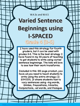 I-SPACED Strategy to teach students to write sentences wit
