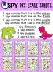 I SPY Dry-Erase Sheets - Animals