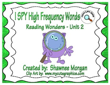 I SPY High Frequency Words - 1st Grade Reading Wonders Unit 2