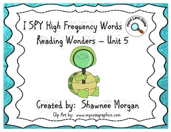 I SPY High Frequency Words - 1st Grade Reading Wonders Unit 5