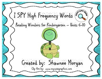 I SPY High Frequency Words - Kindergarten Reading Wonders
