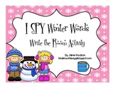 I SPY Winter Words: Write The Room