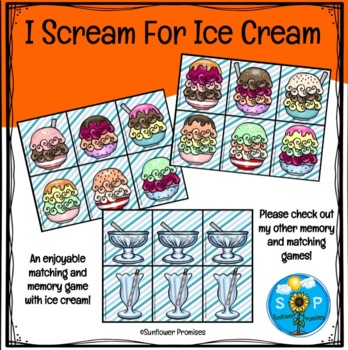 I Scream For Ice Cream - Counting, Matching, Patterns and
