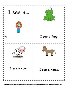 I See A... Sight Word Animal Book