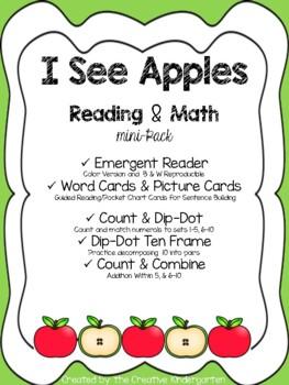 Apples Theme: Emergent Reader & Math mini-Pack {Common Cor