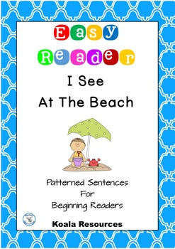I See At The Beach Easy Reader Patterned Sentences for Beginners