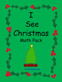 I See Christmas Reader and Math Pack
