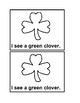 I See Clovers black and white Emergent Reader book for Pre