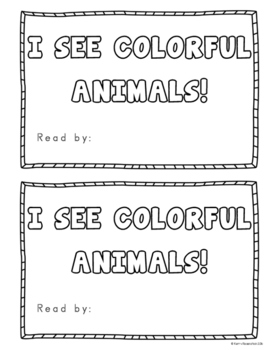 I See Colorful Animals Emergent Reader