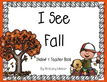 I See Fall Student and Teacher Reader