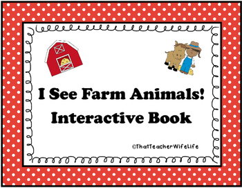 I See Farm Animals - Interactive Book