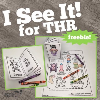 Coloring Worksheets for the Articulation of TH FREEBIE:  I