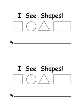 I See Shapes Book