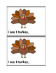 I See Turkeys Counting 0-10 Emergent Reader Book in Color