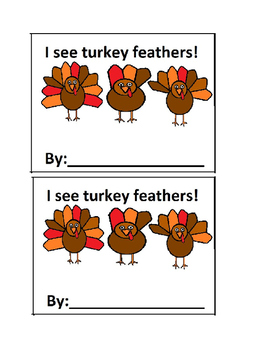 I See Turkeys Feathers-Counting Emergent Reader Book in Co