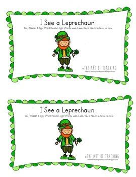 I See a Leprechaun Easy Sight Word Reader