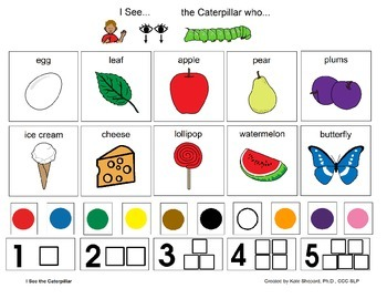 I See the Caterpillar - Eric Carle Inspired I See & Read Board