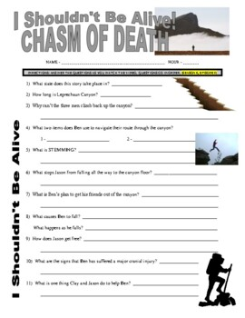 I Shouldn't Be Alive : Chasm of Death (video worksheet)