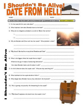 I Shouldn't Be Alive : Date from Hell (video worksheet)