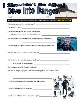 I Shouldn't Be Alive : Dive into Danger (video worksheet)