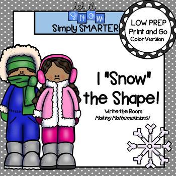 "I ""Snow"" the Shape!:  LOW PREP Winter Themed Flat Shape Wr"