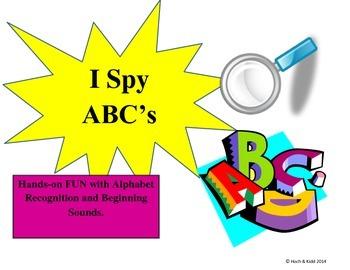 I Spy ABC's Bundle - Alphabet Recognition & Beginning Sounds