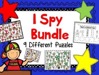 I Spy Bundle (9 Different I Spy Packs for each Season)