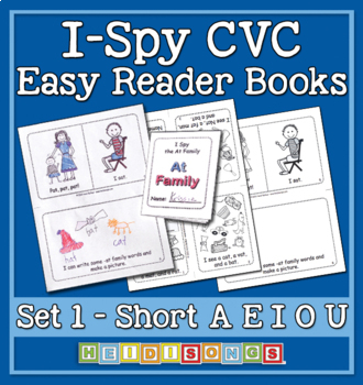 I-Spy CVC Vol. 1 Print & Fold Easy Books