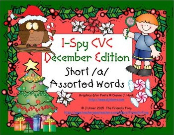 I-Spy CVC Learning Centers - Short /a/ Assorted Words (Dec
