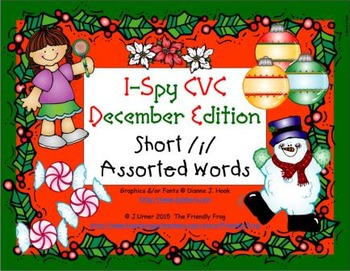 I-Spy CVC Learning Centers - Short /i/ Assorted Words (Dec
