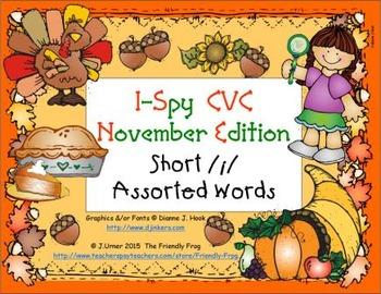 I-Spy CVC Learning Centers - Short /i/ Assorted Words (Nov