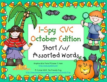 I-Spy CVC Learning Centers - Short /u/ Assorted Words (Oct